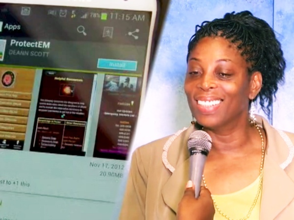 Nurse DeAnn Scott Creator of ProtectEM, an app to  help victims of Domestic Abuse and Violence.
